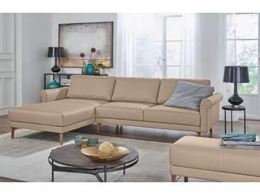 Hülsta Sofa hülsta sofa Polsterecke »hs.450« im modernen Landhausstil, Breite 262 cm, natur, Recamiere links, beige