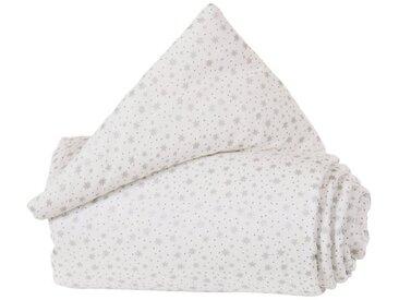 Tobi Gitterschutz Organic Cotton für Verschlussgitter alle babyba, silberfarben, silber/weiß