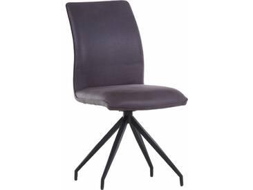 Gutmann Factory Stuhl »Jolina« im 2er Set, flexibel drehbar., grau, anthrazit