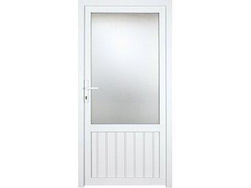 KM Zaun KM MEETH ZAUN GMBH Nebeneingangstür »K707P«, BxH: 108x208 cm cm, weiß, links, weiß, links, weiß