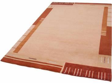 THEKO Teppich »Vancouver wool«, rechteckig, Höhe 20 mm, von Hand geknüpft, braun, 20 mm, terra