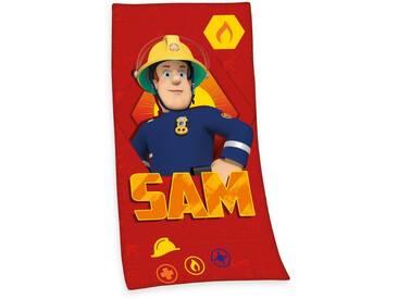 Strandtuch »Sam«, mit Sam-Motiv, rot, Velours, rot