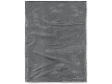 Tom Tailor Wohndecke »Angorina«, unifarbenes Design, grau, Kunstfaser, dunkelgrau
