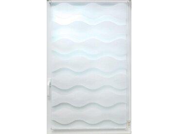 sunlines Doppelrollo »Doppelrollo Welle«, Lichtschutz, ohne Bohren, freihängend, Effektiver Sichtschutz, weiß, weiß
