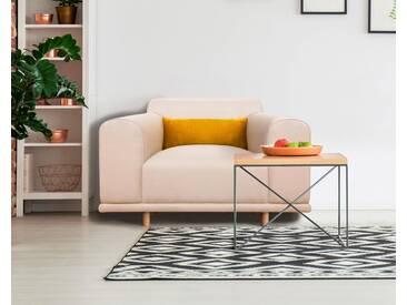 andas Sessel/Loveseat »Maroon« in skandinavischem Design, mit losem Kissen, natur, beige