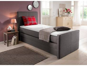Home affaire Boxspringbett »Memphis«, mit Bettkasten und Topper, grau, 90/200 cm, dunkelgrau