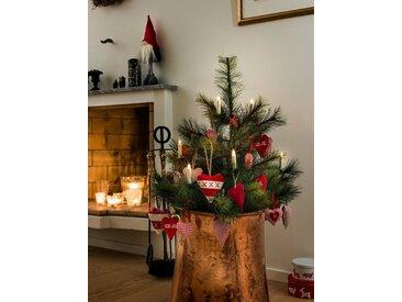 KONSTSMIDE Konstsmide LED Baumbeleuchtung, 5 kleine kabellose weiße Kerzen, Zusatzset, weiß, Lichtquelle Warm weiß, weiß