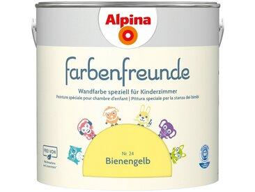 Alpina ALPINA Wand- und Deckenfarbe »Farbenfreunde«, Bienengelb 2,5 l, gelb, Bienengelb
