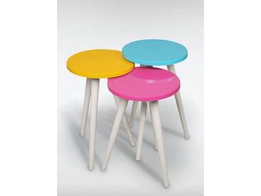 roombird Beistelltische 3er Set Trio I. »Beistelltische 3er Set Trio I«, bunt, gelb, pink, blau
