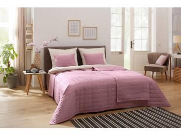andas Tagesdecke »Alva«, in freundlichen Unifarben, rosa, Baumwolle, rosé