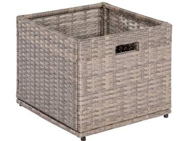 MERXX Kissenbox »Unterschiebbox klein«, Stahl/Kunststoff, 95x40x49 cm, natur, natur
