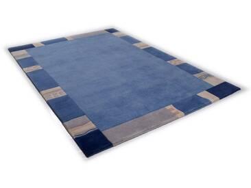 THEKO Teppich »Avanti«, rechteckig, Höhe 12 mm, von Hand geknüpft, blau, 12 mm, blau