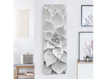 Bilderwelten Garderobe »Kaktus Sukkulente«, grau, 139x46 cm, Grau