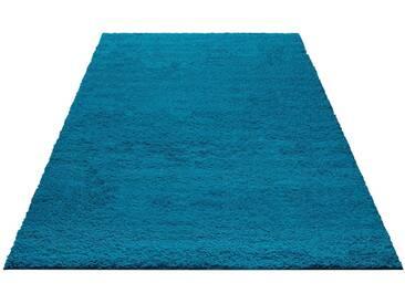 my home Hochflor-Teppich »Bodrum«, rechteckig, Höhe 30 mm, blau, 30 mm, petrol