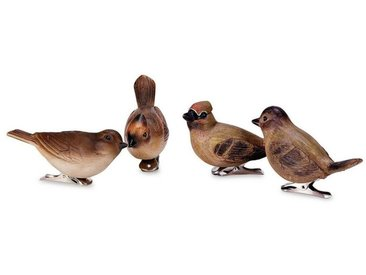 Loberon Vogel 4er Set »Pompaire«, braun, braun