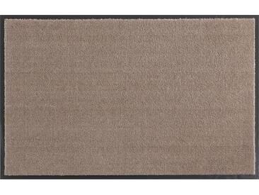HANSE Home Fußmatte »Deko Soft«, rechteckig, Höhe 7 mm, saugfähig, waschbar, braun, 7 mm, taupe