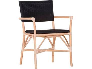 Gutmann Factory Rattanstuhl »Fenno« mit Armlehnen, inklusive Sitzkissen, natur, natur