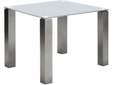 NIEHOFF SITZMÖBEL Esstisch »Multitop«, taupe oder weiß, in 5 Breiten, weiß, glas weiß