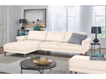 Hülsta Sofa hülsta sofa Polsterecke »hs.450« im modernen Landhausstil, Breite 262 cm, weiß, Recamiere links, perlweiß