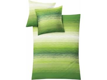 Kleine Wolke Bettwäsche »Chicago«, mit fließendem Farbverlauf, grün, 1x 155x220 cm, Mako-Satin, grün