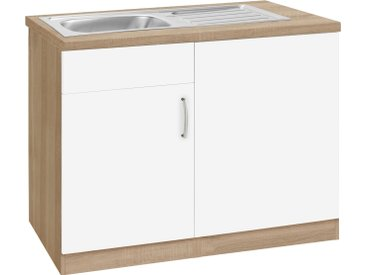 wiho Küchen Spülenschrank »Brilon« inkl. Tür/Sockel für Geschirrspüler, Breite 110 cm, weiß, weiß