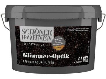 SCHÖNER WOHNEN-Kollektion SCHÖNER WOHNEN FARBE Wohnraumlasur »Glimmer-Optik Effektlasur kupfer«, 1 l, braun, 1 l, kupfer