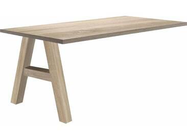 Mäusbacher Schreibtischzusatzplatte »Mio« mit Fuß, natur, eichefarben/eichefarben