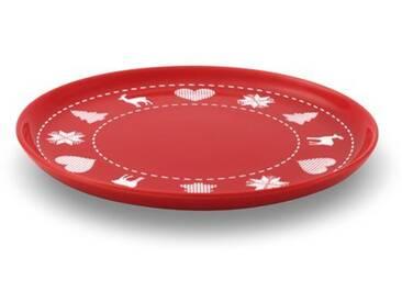 FRIESLAND Frühstücks-Set, Steingut, rot, Rot