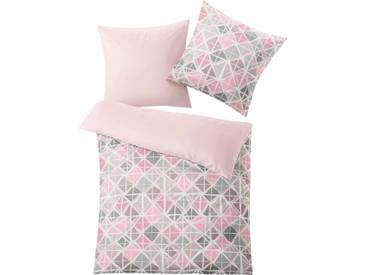Kleine Wolke Bettwäsche »Mesh«, mit schönen Rautenvariation, rosa, 1x 135x200 cm, Mako-Satin, rosé