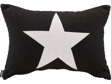 H.O.C.K. H.o.c.k. Wendekissen »Rockstar - Stern«, 50/30 cm, schwarz, schwarz