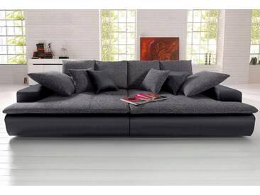 Nova Via Big-Sofa, schwarz, 260 cm, schwarz/pepper