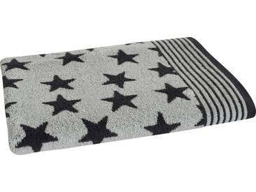 Dyckhoff Badetuch »Stars«, mit Sternen & Streifen, grau, Walkfrottee, anthrazit