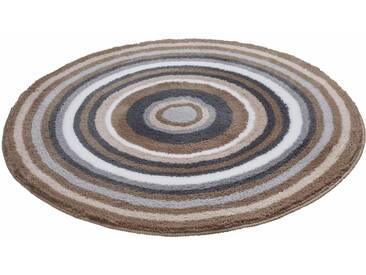 Kleine Wolke Badematte »Mandala« , Höhe 20 mm, rutschhemmend beschichtet, fußbodenheizungsgeeignet, braun, 20 mm, taupe