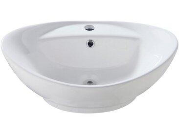 welltime WELLTIME Aufsatzbecken »Bilbao«, Waschbecken, oval, Breite 60 cm, weiß