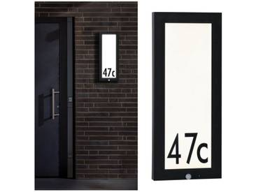 Paulmann LED Außen-Deckenleuchte »Panel 20x60 cm IP44 13W 230V Anthrazit Hausnummer mit Bewegungsmelder«, 1-flammig, grau, 1 -flg. /, anthrazit