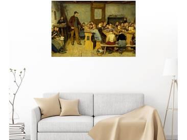 Posterlounge Wandbild - Albert Anker »Dorfschule«, bunt, Holzbild, 180 x 120 cm, bunt