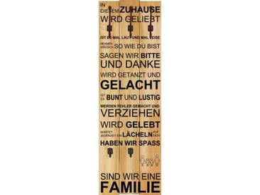 Artland Wandgarderobe »W. L.: In diesem Zuhause - braun«, braun, 140 x 45 x 2,8 cm, Braun
