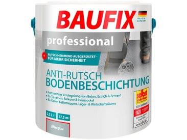 Baufix BAUFIX Acryl Flüssig Kunststoff »Professional«, Anti-Rutsch-Bodenbeschichtung, silbergrau, 2,5 l, silberfarben, 2.5 l, silberfarben