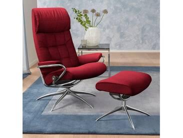 Stressless® Set: Relaxsessel mit Hocker »London« mit Star Base, in 2 Höhen, mit Schlaffunktion, rot, High Base, red
