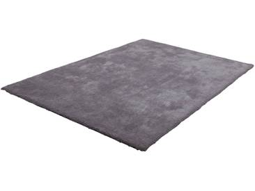 LALEE Hochflor-Teppich »Velvet«, rechteckig, Höhe 25 mm, silberfarben, 25 mm, silberfarben