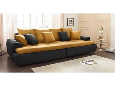 COLLECTION AB Collection AB Mega-Sofa, inklusive loser Zier- und Rückenkissen, schwarz, schwarz/gold