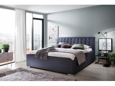 Places of Style Polsterbett »La Finca«, grau, ohne Matratze ohne Bettkasten, ohne Lattenrost, anthrazit