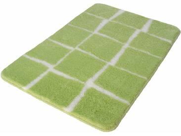 Kleine Wolke Badematte »Carat« , Höhe 20 mm, rutschhemmend beschichtet, fußbodenheizungsgeeignet, grün, 20 mm, farn