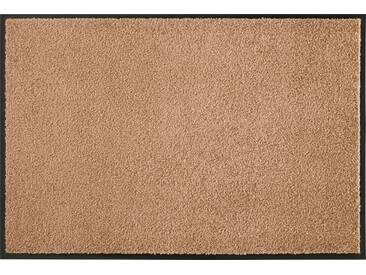 HANSE Home Fußmatte »Wash & Clean«, rechteckig, Höhe 7 mm, waschbar, natur, 7 mm, caramel