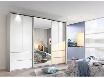 rauch PACK´S Dreh-/Schwebetürenschrank »Wetzlar«, mit Spiegel, weiß, Breite 270 cm, 5-türig, weiß