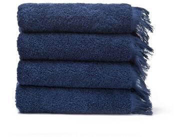 Casa di Bassi Handtuch Set »LAURA«, Abschluß mit Fransen, blau, blau