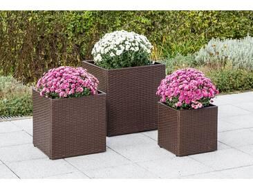 MERXX HANSE GARTENLAND Verkleidung für Blumenkübel, versch. Größen, braun, 32 cm, 1 Stk., braun