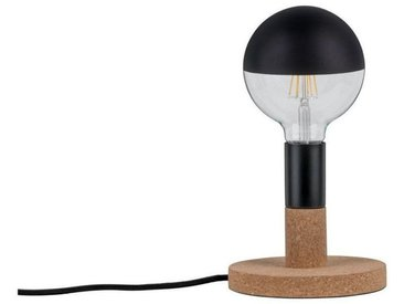 Paulmann LED Tischleuchte »Eske Kork/Schwarz max. 20W E27«, 1-flammig, schwarz, Ø16 cm / H:14,5 cm, 1 -flg. /, schwarz