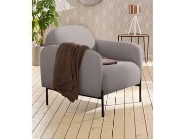 andas Sessel »Bold«, edles, skandinavisches Design, mit Stahlbeinen, grau, grau
