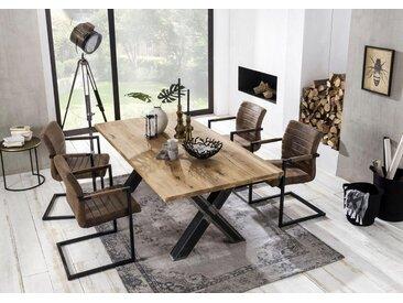 SIT Baumkantentisch »Tables« mit Platte aus Wildeiche natur, natur, 200x100x75 cm, natur